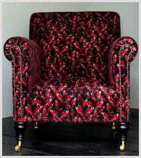 Butterflies Armchair (Black)
